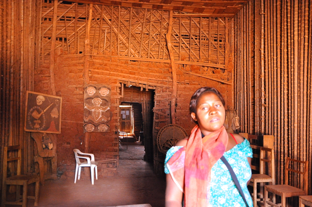 inside of the chefferie at bafoussam