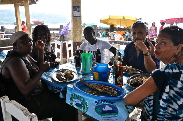 lunch at limbe, cameroon