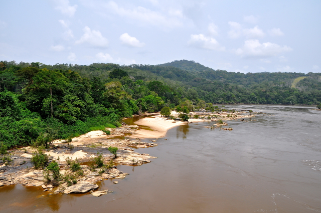 river in gabon, africa