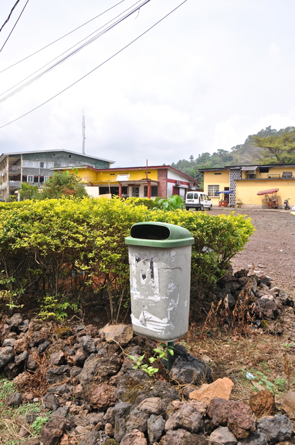rubbish bin at limbe, cameroon