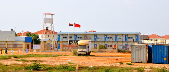 chinese buildings in angola, africa