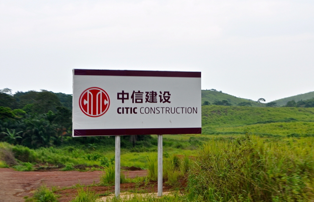 chinese construction billboard in angola