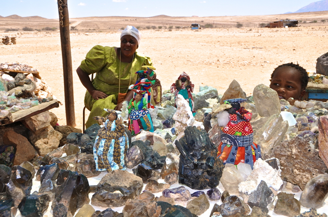 herero selling stones at nambia