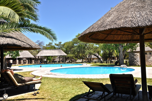 okaukaejo waterhole resort at nambia