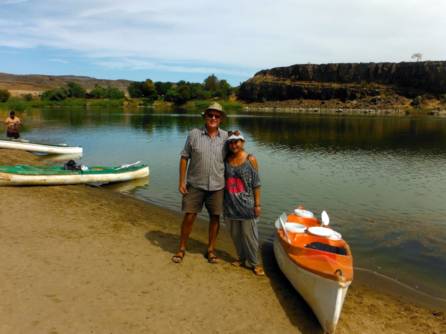 canoeing at orange river-namibia