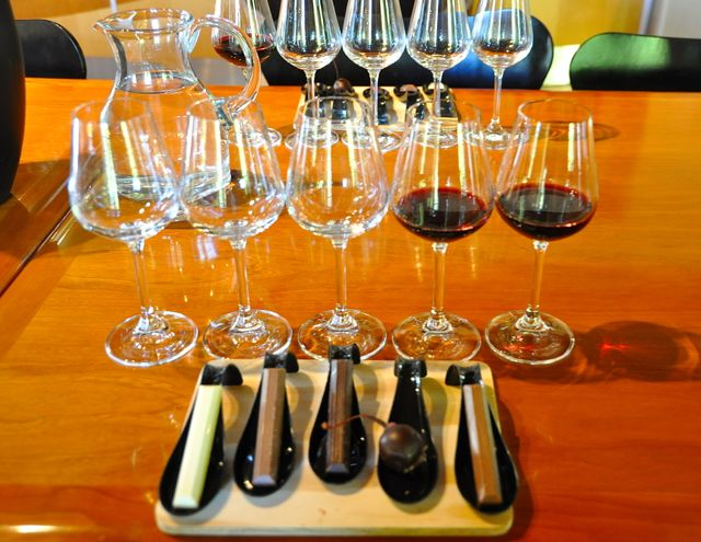 chocolate and wine tasting at stellenbosch