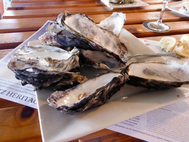 oysters from Ludrigue, Namibia