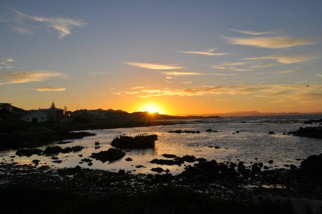 sunset at gansbaai