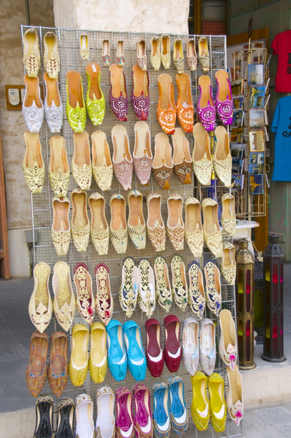 shoes at souk waqik, qatar