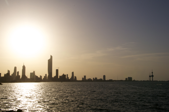 kuwait city sunset time