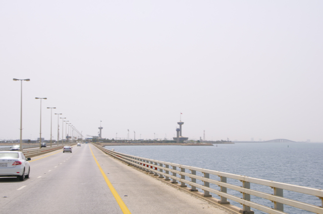 The King Fahd Causeway-highway from Bahrain to Saudi Arabia